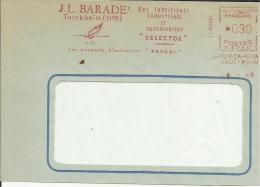 Lettre EMA Jl Barade  Produits Entretien Selectol Oiseaux Cigognes Echassiers Huile Petrole  67 Turkheim   02/07 - Marcophilie (Lettres)