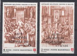 Smom 1999 Sass. 579/80 MNH/** VF - Sovrano Militare Ordine Di Malta