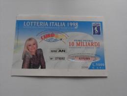 LOTTERIA ITALIA 1998 - Pubblicitari