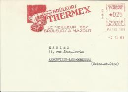Lettre  EMA Bruleur Thermex  Bruleurs A Mazout Chauffage Sanitaire Usines Industries Paris Theme 02/13 - Usines & Industries