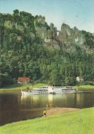 Sächische Schweiz   Basteii Mit Luxusmotorschiff   Germany   # 01139 - Bastei (sächs. Schweiz)