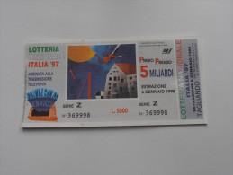 LOTTERIA NAZIONALE ITALIA '97 - Pubblicitari
