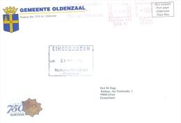 Niederland Oldenzaal AFS 1999 750 Jahre Gemeente Oldenzaal Wappen (Brief Ist Schlecht Gescannt - Ist In Ordnung) - Marcofilie - EMA (Print Machine)