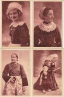Lot Of 4 C1910s/20s Vintage Postcards, Fashion Hair, Bretagne, Plaoare, Fouesnntaise, Huelgoat Carhaix - Bretagne