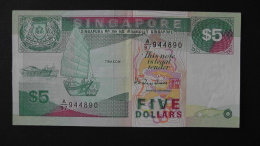 Singapore - 5 Dollar - 1989 - P 19 - VF+ - Look Scan - Singapur