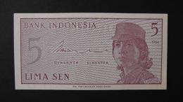 Indonesia - 5 Sen - 1964 - P 91a- Unc - Look Scan - Indonesien