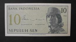 Indonesia - 10 Sen - 1964 - P 92a- Unc - Look Scan - Indonesien