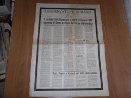L´OSSERVATORE ROMANO N.134 LUNEDì-MARTEDì 10-11   GIUGNO 1963 PAPA GIOVANNI XXIII - Libri, Riviste, Fumetti