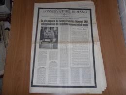 L´OSSERVATORE ROMANO N.139 LUNEDì-MARTEDì 17-18  GIUGNO 1963 PAPA GIOVANNI XXIII - Libri, Riviste, Fumetti