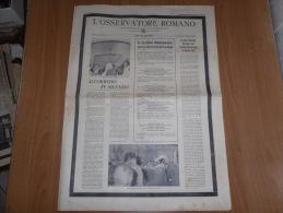 L´OSSERVATORE ROMANO N.137 VENERDì-SABATO 14-15  GIUGNO 1963 PAPA GIOVANNI XXIII - Libri, Riviste, Fumetti