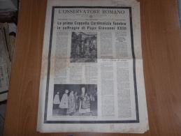L´OSSERVATORE ROMANO N.138 DOMENICA 16  GIUGNO 1963 PAPA GIOVANNI XXIII - Autres