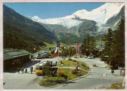 Saas - Fee , Postautostation Mit Feegletscher , Allalinhorn , Alphubel - VS Wallis