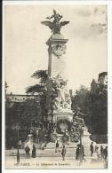PARIS 20° , Le Monument Gambetta , CPA ANIMEE , 1920 - Francia