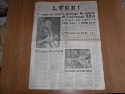 LUCE SETTIMANALE CATTOLICO DELL'ALTO MILANESE  PAPA GIOVANNI XXIII - Libri, Riviste, Fumetti