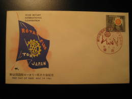 JAPAN Nippon 1961 ROTARY Fdc Cover - Rotary, Lions Club