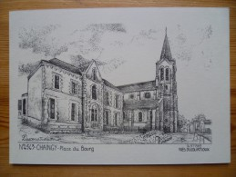 45 : Chaingy - Place Du Bourg - D'après Dessin Ou Gravure - Ed. Ducourtioux - Inhabituel - (n°854) - Otros Municipios