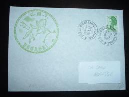 LETTRE TP LIBERTE DE GANDON 2,00F ROULETTE OBL. 8-1-1990 29240 BREST LANINON MARINE (29 FINISTERE) + PEGASE + CHEVAL - Naval Post