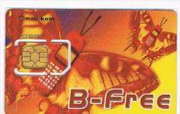 AUSTRIA - MOBILKOM  (SIM GSM) -  B-FREE: BUTTERFLY -    USED WITH CHIP  ° -  RIF. 5294 - Austria