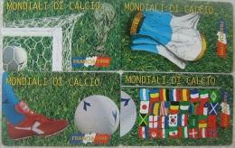NUOVE-(Mint)-29/32-SAN MARINO  SERIE MONDIALI CALCIO 98  4 SCHEDE - Saint-Marin