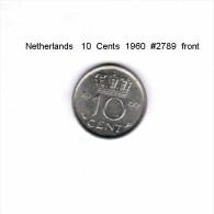 NETHERLANDS    10  CENTS  1960  (KM # 182) - [ 3] 1815-… : Kingdom Of The Netherlands
