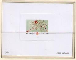 PRUEBA DE ARTISTA DEL COMITE OLIMPICO DE LA OLIMPIADA DE BARCELONA 92 - HIPICA - Summer 1992: Barcelona