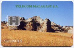 Télécarte 100 Unités Madagascar 05/96 - Massif De L´Isalo, N° En Dessous Ligne - Madagascar