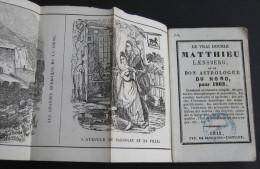 Almanach 1862 - Vrai Double Matthieu Laensberg / Matthieu Rouge / Gravures - 1801-1900