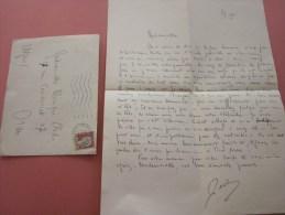Juin 1954 Lettre + Courrier à Une Demoiselle  De Villeneuve-Loubet Pour Oran Algérie En Ex Colonie Française - Algeria (1924-1962)