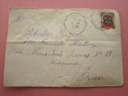6 Avril 1950 Lettre Timbre Seul Sur Lettre Cachet à Date Convoyeur Colombechar à ORAN 750 Km Pr Oran Algérie Colonie Fra - Algeria (1924-1962)