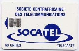 Télécarte 60 Unités Centrafrique 04/95 - Socatel Bleue, Puce SC7, Série C5B, Sans Logo - Central African Republic