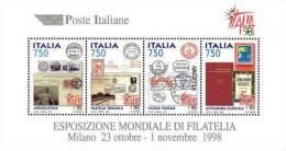 ITALIA - ITALY - ANNO 1997 - FOGLIETTO ITALIA 98 - BF- NUOVI MNH ** - 6. 1946-.. Repubblica