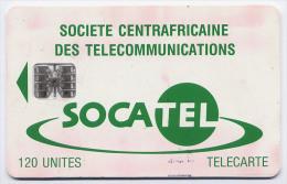 Télécarte 120 Unités Centrafrique 04/95 - Socatel Verte, Puce SC7, Série C54 - Central African Republic