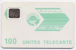 Télécarte 100 Unités Djibouti - OPT Verte, Puce SC5, Double Frappe 24281 - Djibouti