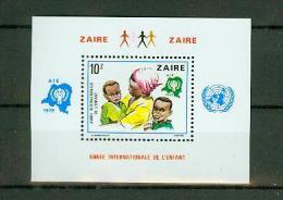 "Zaire 1979, 1 Block,year Of The Child,annee De L""enfant,,MNH/Postfris, (E1446) - Organisaties"