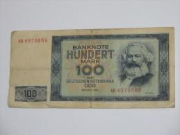 100  Mark - Banknote Hundert Mark Der Deutschen Notenbank DDR  1964  - Allemagne De L'est - Germany - - [ 6] 1949-1990 : RDA - Rép. Dém. Allemande