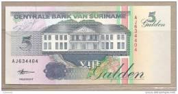 Suriname - Banconota Non Circolata Da 5 Fiorini - 1998 - Suriname
