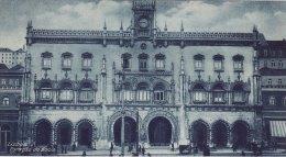 Print Estacao Do Rocio LISBON Portugal 1920's Lisboa Rossio Railway Station - Géographie