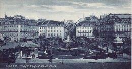Print Praca Duque Da Terceira LISBON Portugal 1920's Lisboa Duke Square - Géographie