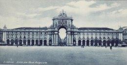 Print Arco Da Rua Augusta LISBON Portugal 1920's Lisboa Arch Gateway - Géographie