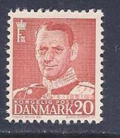 Denmark, Scott #307a Mint Hinged Frederik LX,  Type 3, 1949 - Unused Stamps