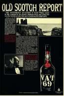 Reklame Werbeanzeige  -  VAT 69  -  Old Scotch Report  -  Von 1968 - Alcools