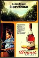 Reklame Werbeanzeige  -  Cognac Bisquit  -  Der Noble Aus Frankreich  -  Impressionen  -  Von 1972 - Alkohol