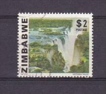 H] Timbre Oblitéré Cancelled Stamp Zimbabwe Chutes D´Eau Waterfalls 1980 - Zimbabwe (1980-...)