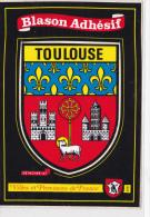 CARTE BLASON ADHESIF-TOULOUSE-GRAND FORMAT - Fancy Cards