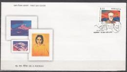 INDIA, 2004, FDC, Birth Centenary Of Dr Svetoslav Roerich, (Artist), Kolkata Cancelled - FDC
