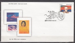 INDIA, 2004, FDC, Birth Centenary Of Dr Svetoslav Roerich, (Artist), Mumbai Cancelled - FDC