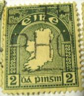 Ireland 1922 Map Of Ireland 2d - Used - 1922-37 Irish Free State
