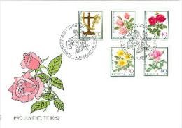CH - 3418 -  Enveloppe Suisse Pro Juventute 1982 Oblit Spéciale 1er Jour - Roses