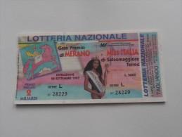 LOTTERIA NAZIONALE MISS ITALIA 1997 - Pubblicitari