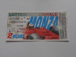 LOTTERIA NAZIONALE MONZA 1995 - Pubblicitari
